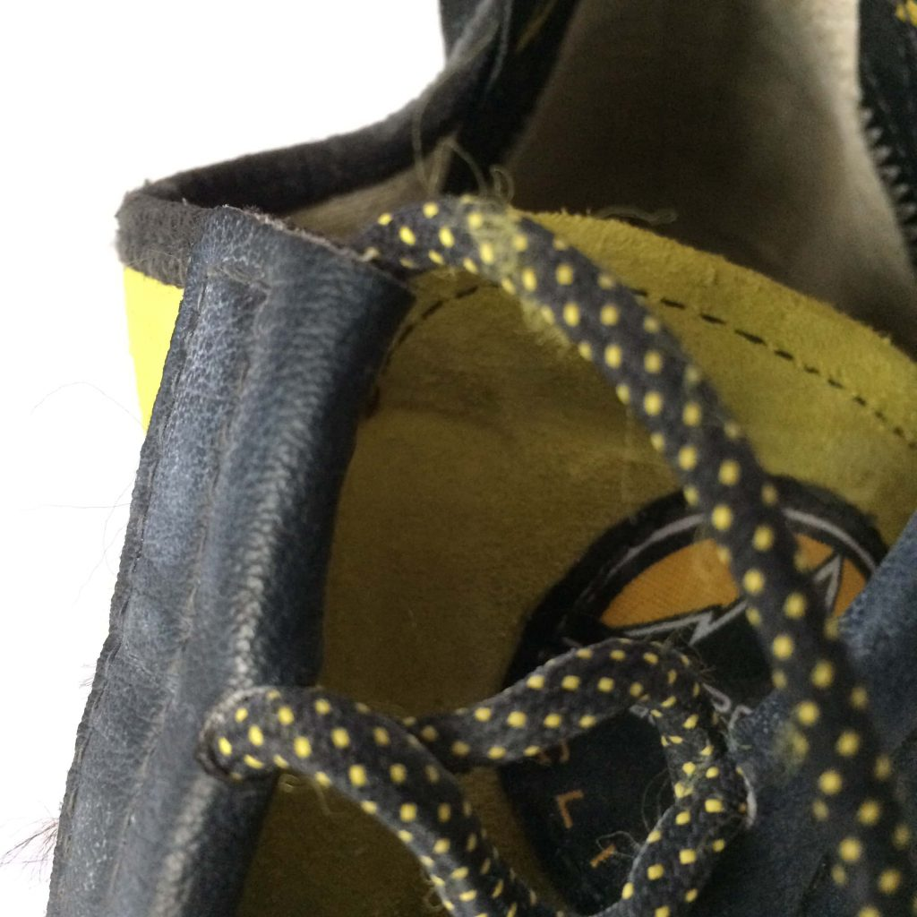 Our La Sportiva Miura review concluded that the laces aren't as durable as the rest of the shoe