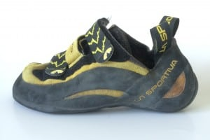 The La Sportiva Miura VS climbing shoe is one of the best climbing shoes for wide feet
