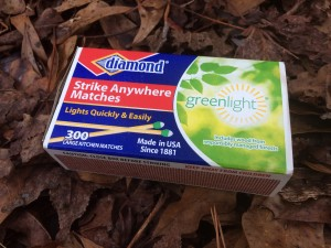 A box of Diamond Greenlight Strike Anywhere Matches