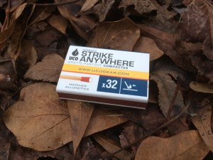 A box of UCO Strike Anywhere Matches
