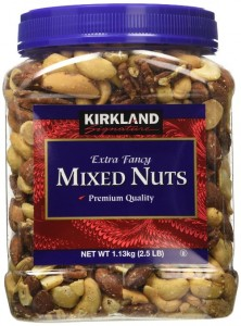 A tub of mixed nuts