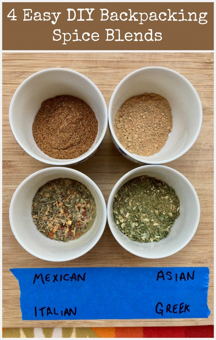 4 easy diy backpacking spice blends