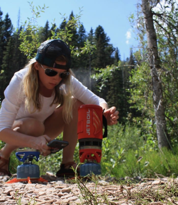 Boiling water in the Jetboil Flash