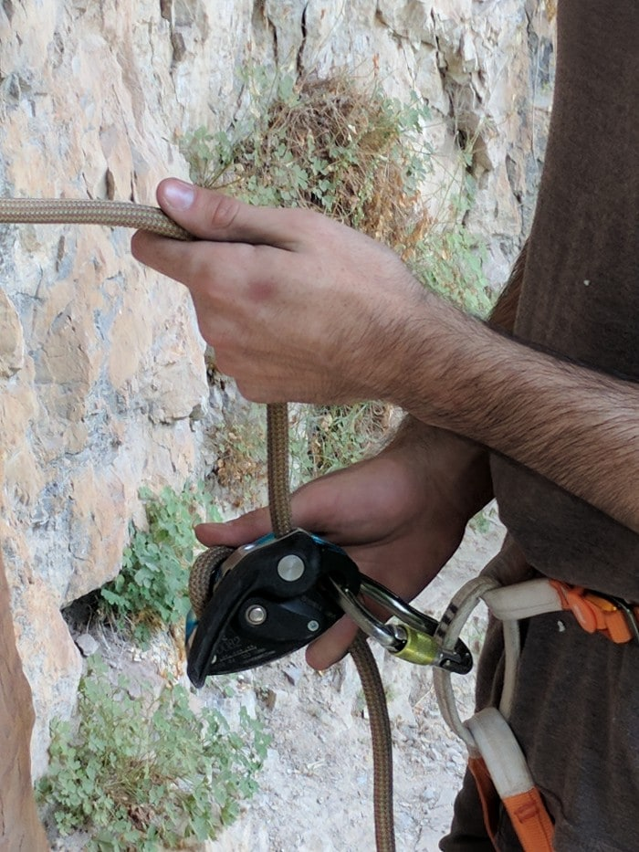 Belaying with the Petzl GriGri 2