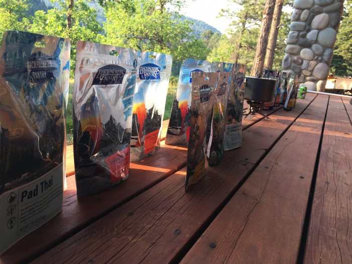 Freeze-dried meals from Backpacker's Pantry and Mountain House