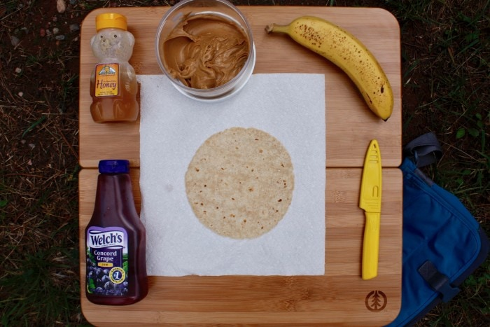 Step 1: Place your tortilla on a flat surface