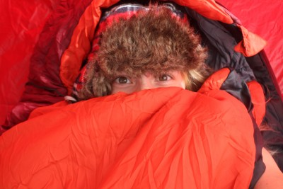 How I stay warm in my tent