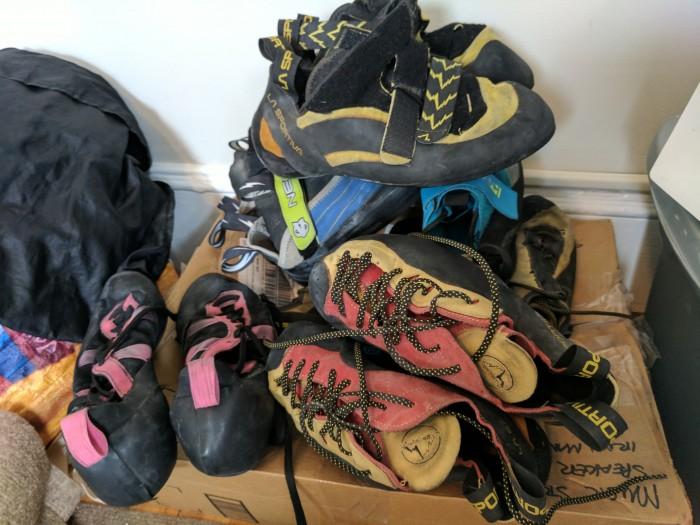 A versatile quiver of climbing shoes