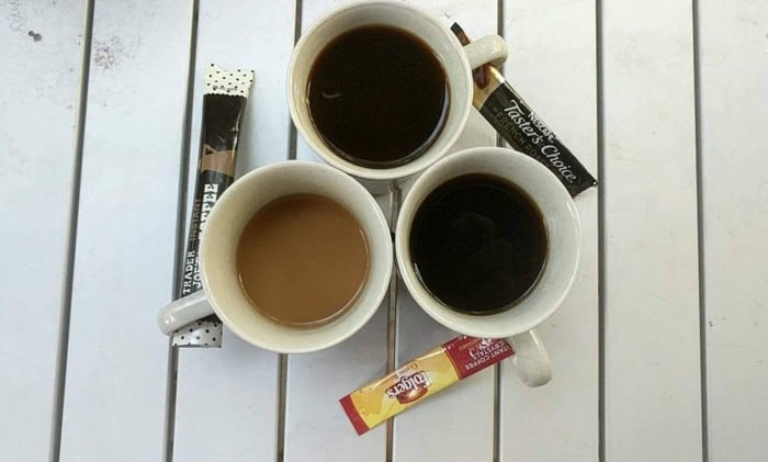 Comparing the color between Folgers, Nescafe and Trader Joe's