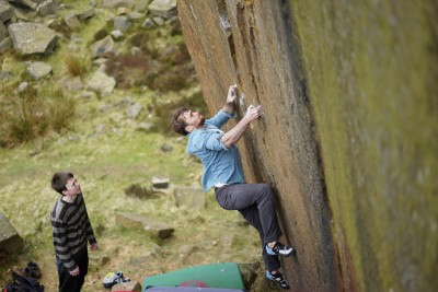 Think while on the bouldering wall
