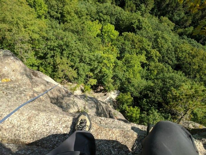 Climbing in the La Sportiva TC Pros