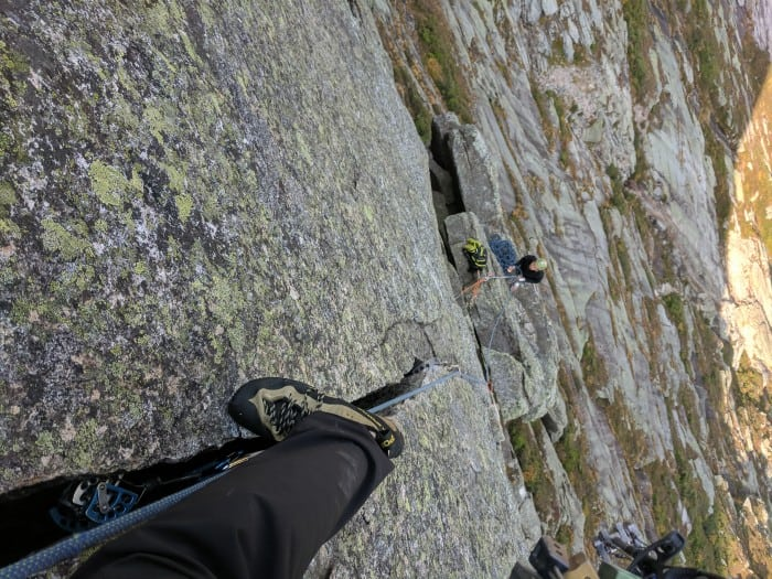 Crack climbing in the TC Pros