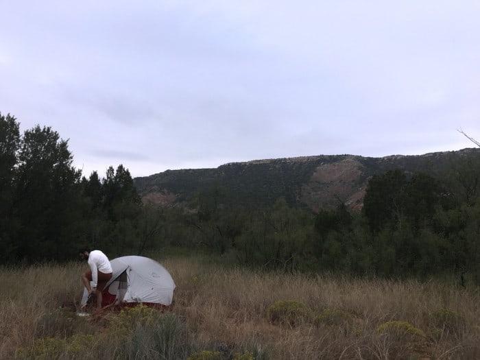 Testing the Hubba Hubba's footprint
