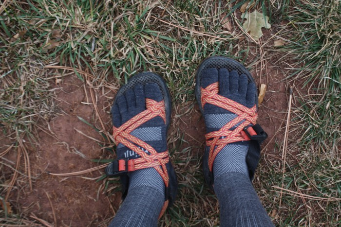 Wearing Injinjis with my Chaco Z2s