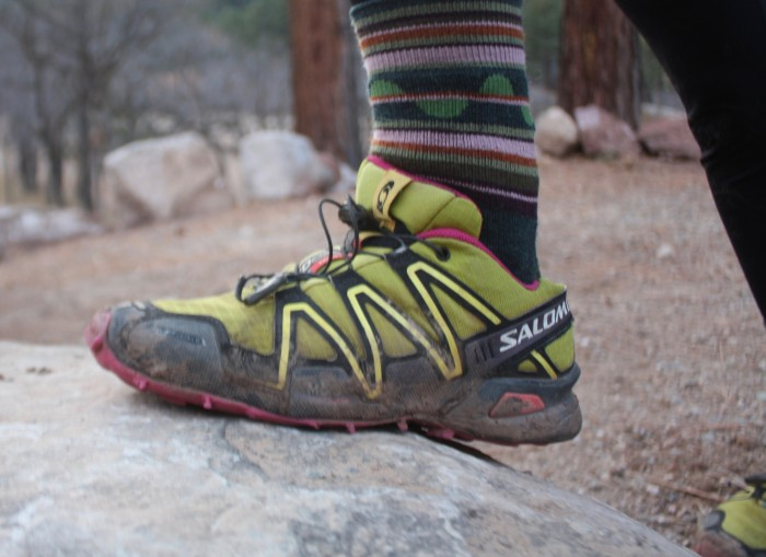 Wearing hiking socks with trail runners
