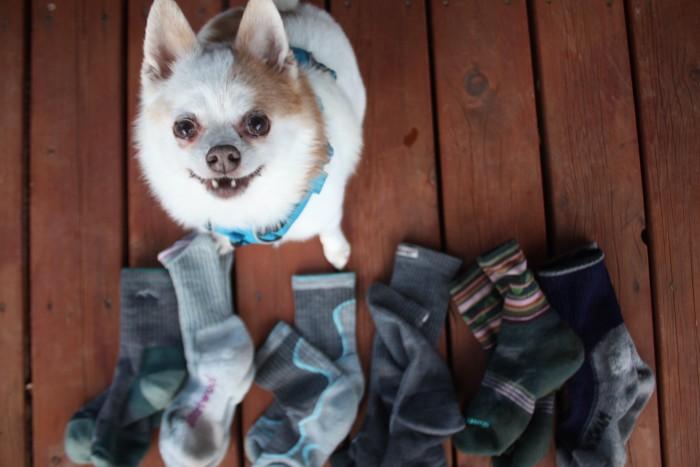 Testing the hiking socks
