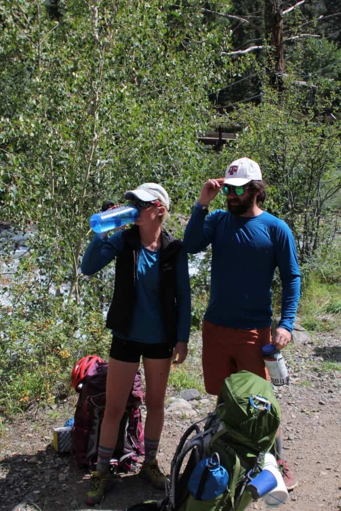Wearing crew-length hiking socks in warm weather