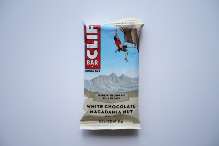 White Chocolate Macadamia Nut Clif bar