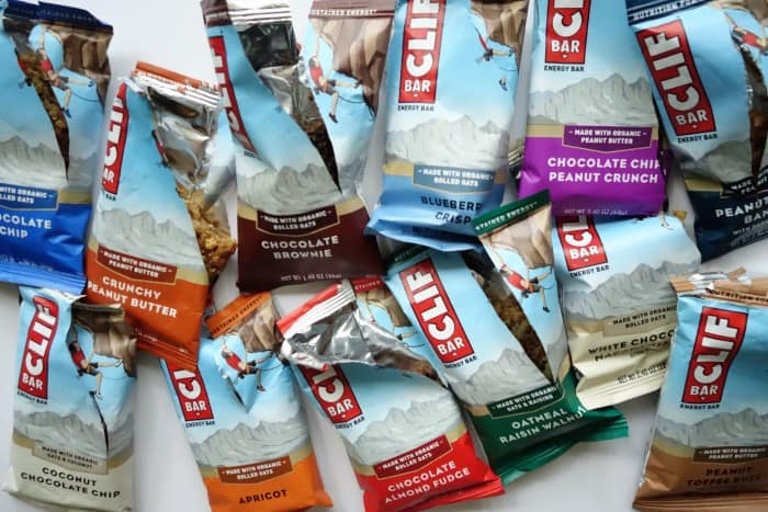 Mid-taste test of 12 Clif bars