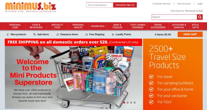 minimus.biz homepage