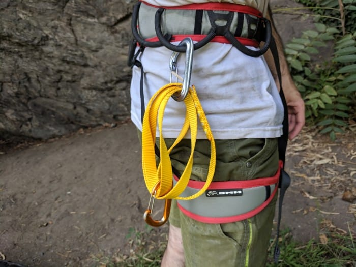 An alpine draw built with the Petzl Anneau Polyester Sling