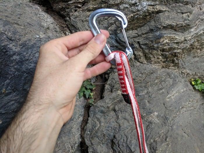 A tangled dyneema sling