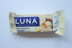 White Chocolate Macadamia Luna bar