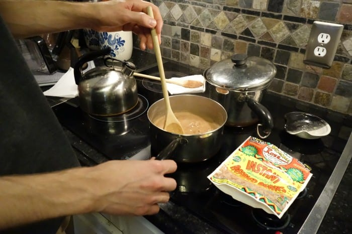 Preparing instant refried beans