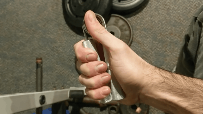 Testing grip strengtheners
