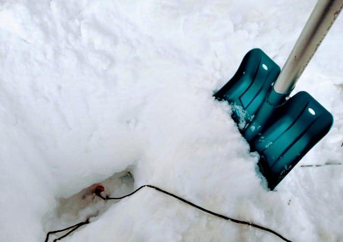 Burying the REI Snow Stake