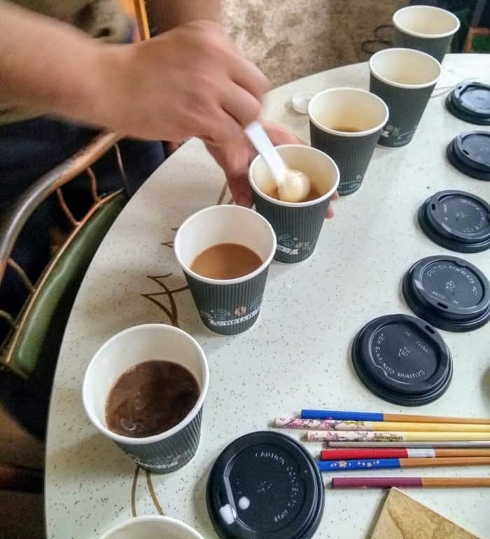 Blindly taste testing 7 different brands of instant coffee
