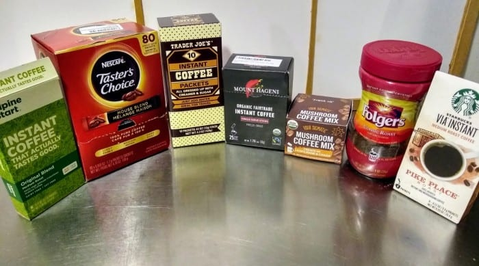 7 different instant coffee brands