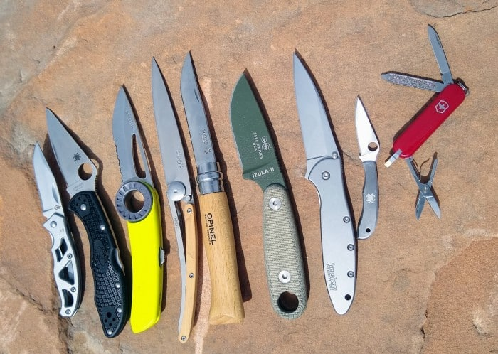 The nine backpacking knives knives we tested.