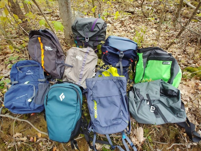 The 9 climbing packs we tested.