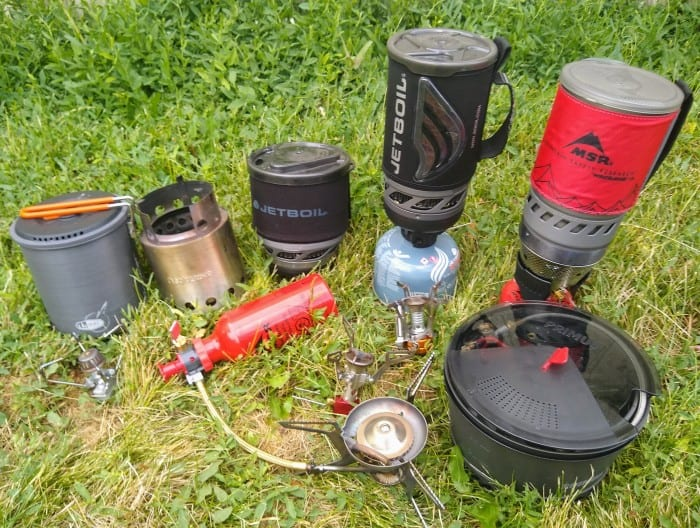 The 10 backpacking stoves we tested.