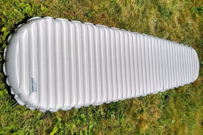 The mummy shape of the NeoAir X-Therm.