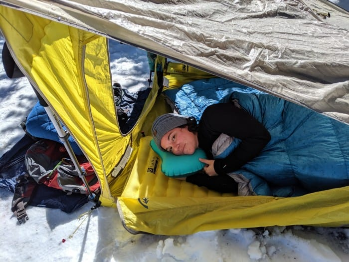 Tucked in on our Top Pick, the Nemo Tensor Insulated.