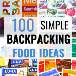 100 backpacking food ideas pin
